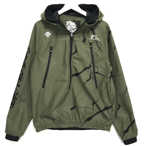 [XL] Futura Laboratories x Descente Half Zip Nylon Hooded Jacket Olive