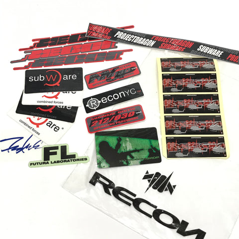 Futura Subware Recon Project Dragon WTAPS Vintage Sticker Pack