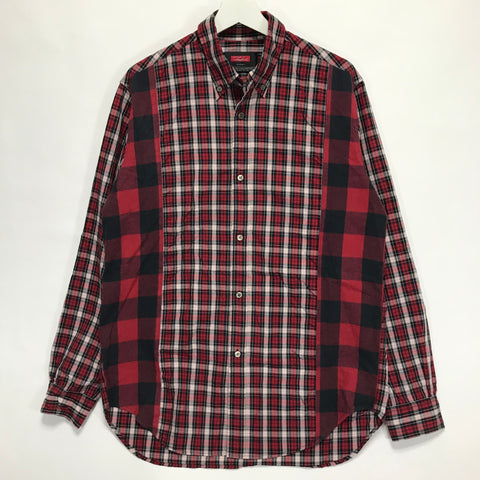 [L] Futura Laboratories Plaid / Buffalo Check Panel Shirt