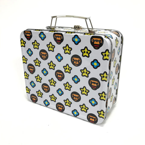 A Bathing Ape Baby Milo Mario Stars Metal Lunch Box White