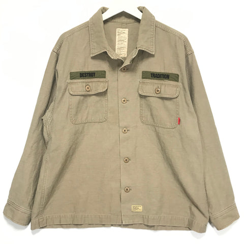 [L] WTaps 06AW Destroy Tradition BUDS L/S Shirt Beige