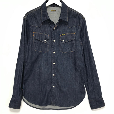 [L] Kapital One Wash Denim Western BD L/S Shirt Indigo