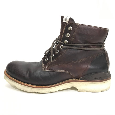 [9.5] Visvim Virgil Boots Folk Kngr ( Kangaroo ) Dark Brown