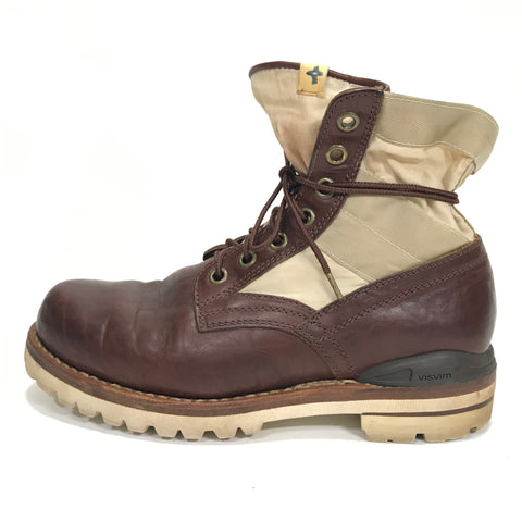 [9] Visvim 7 Hole '73 Folk Boots Brown