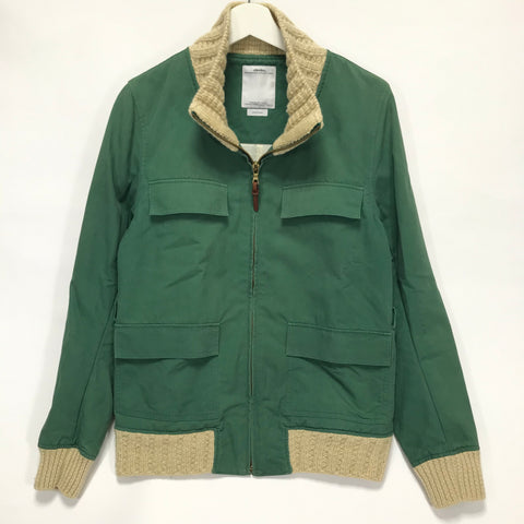 [M] VISVIM 10AW Redwood Knit Jacket Green
