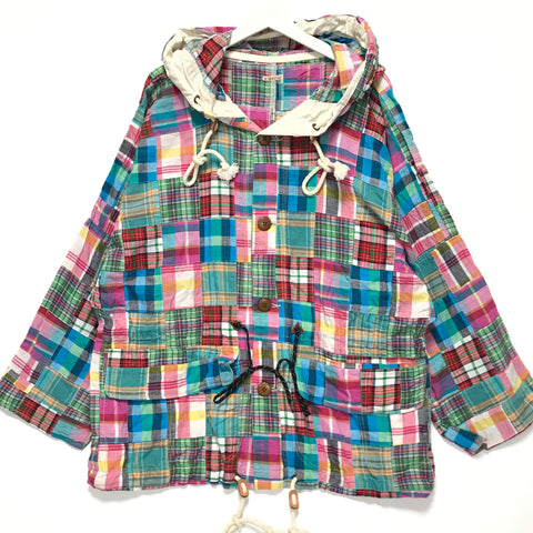 [M] Kapital Patchwork Plaid Parka Jacket