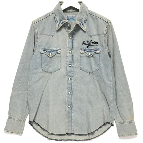 [M] Wacko Maria Guilty Parties Virgin Mary Denim Western Shirt