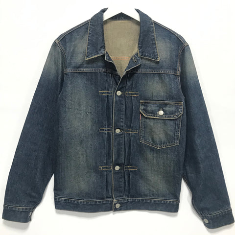 [M] Futura Laboratories Distressed Denim Jacket Indigo