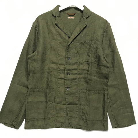 [M] Kapital Linen Four Button Jacket Olive