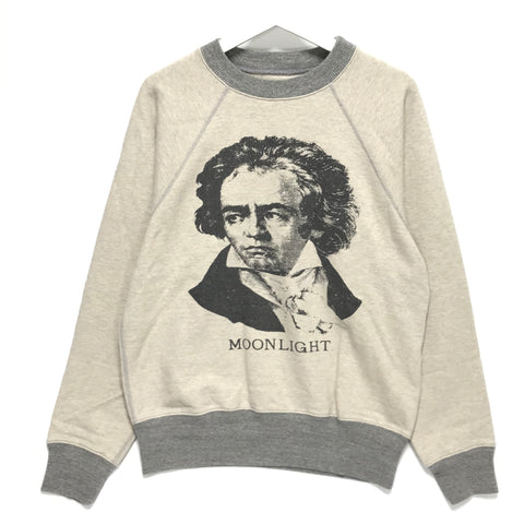 [M] Kapital Beethoven Moonlight Smiley Crewneck Sweatshirt Beige