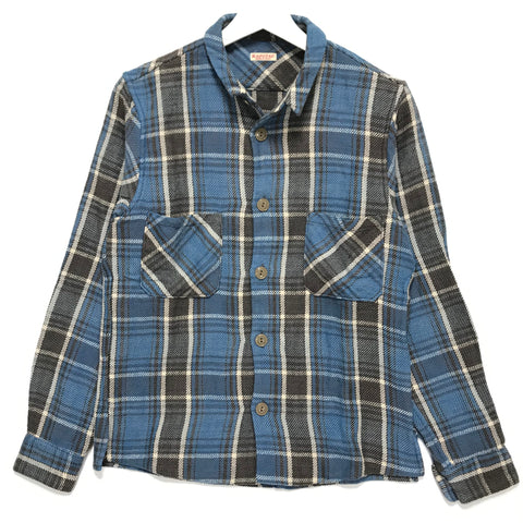 [S] Kapital Flannel L/S Shirt Blue