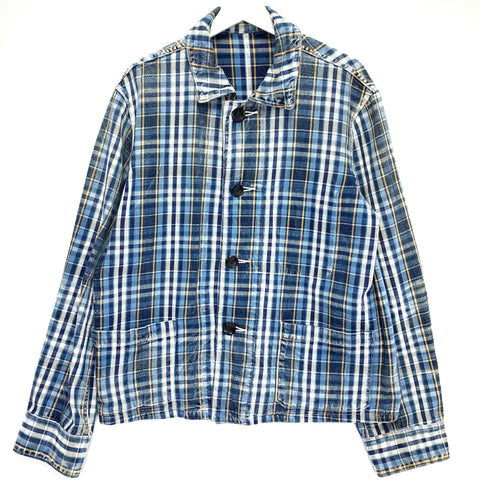[M] Kapital Kiro Hirata Oversized Distressed Plaid Jacket