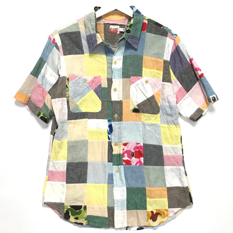 [M] A Bathing Ape Bape Patchwork S/S Shirt