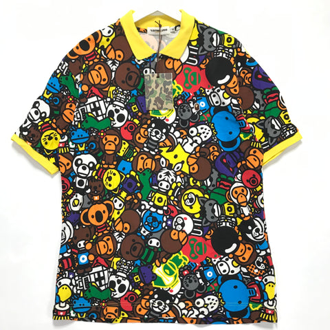[XL] DS! A Bathing Ape Bape Baby Milo Safari Polo Shirt