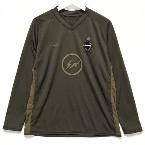 [M] Fragment x Visvim x FCRB Nike Soccer Football L/S Jersey Shirt Brown
