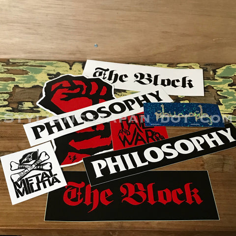 WTaps Philosophy Store Limited Sticker Set 1