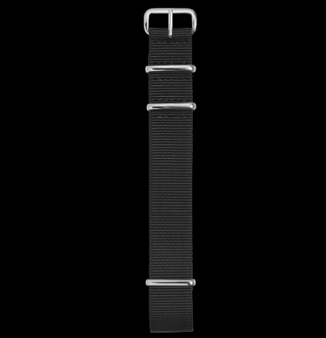 NEW! WMT Nylon NATO Watch Strap Black