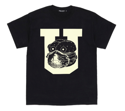 [M~XL] DS! Undercover Stay Home Burger Mask COVID Tee Shirt Black