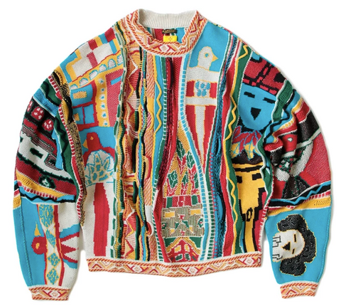 [L] DS!Kapital 7 knit Kachina Gaudy Crew Sweater
