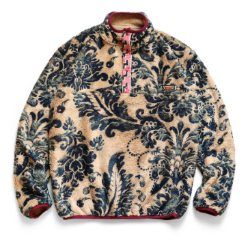 [S or M] DS! Kapital Damask Virgin Mary Snap Pullover Fleece Jacket