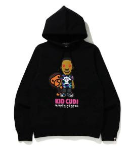 [M, L, or XL] DS! Bape Kid Cudi Moon Man Baby Milo Pullover Hoodie Sweatshirt