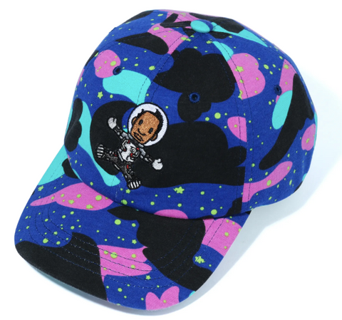 DS! Bape Kid Cudi Moon Man Camo Panel Hat Cap