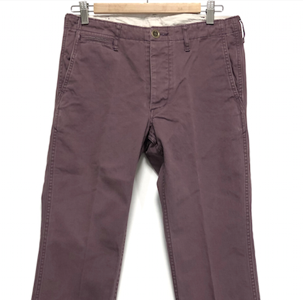 [S] DS! Visvim Slim Chino Pants Giza Purple