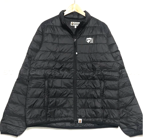 [L or XL] DS! BAPE 2019 NEW YEARS BAG LIGHT DOWN JACKET BLACK