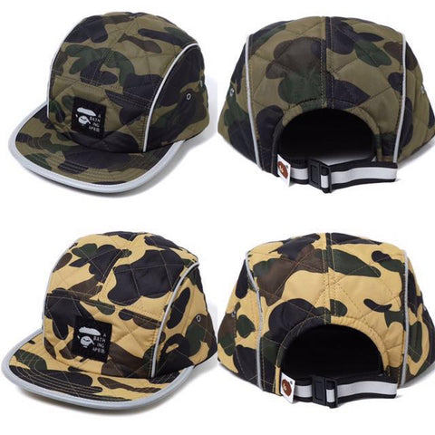 DS! A Bathing Ape Bape 1st Camo Padded Jet Cap Yellow or Green