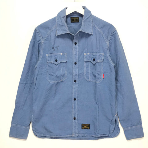 [M] WTaps Cell L/S Chambray Shirt Blue
