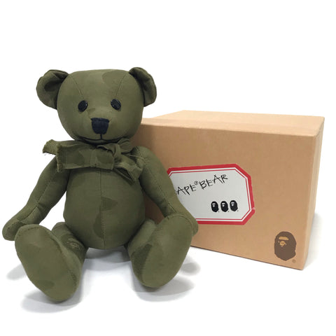 DS! A Bathing Ape Bape Jacquard Camo Bear Olive