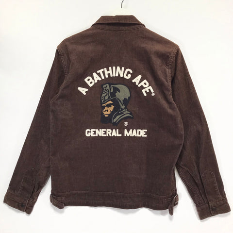 [M] A Bathing Ape Bape General Made Corduroy Jacket Brown