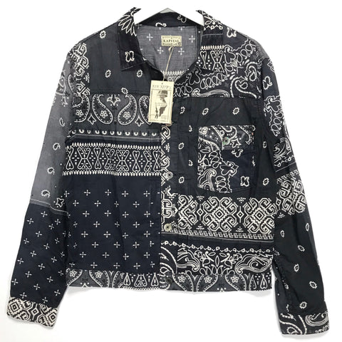 [M] DS! Kapital Kountry Bandana Patchwork Pt 1st Shirt Jacket Black