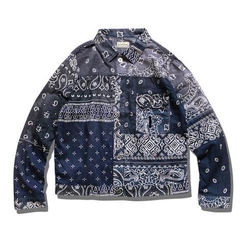 [XL] Kapital Kountry Bandana Patchwork Pt 1st Shirt Jacket Purple Navy
