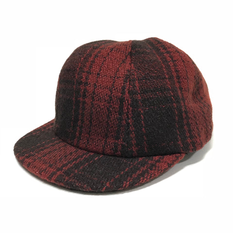 [S/M] Visvim Honus Cap Buffalo Check Red