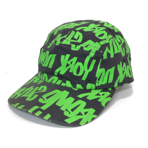Supreme Vintage Graffiti Script Logo Cap Grey/Green