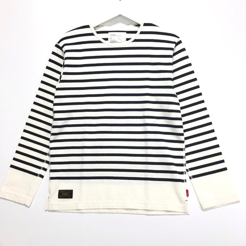 [S] WTaps Vasque Border L/S Shirt White/Navy