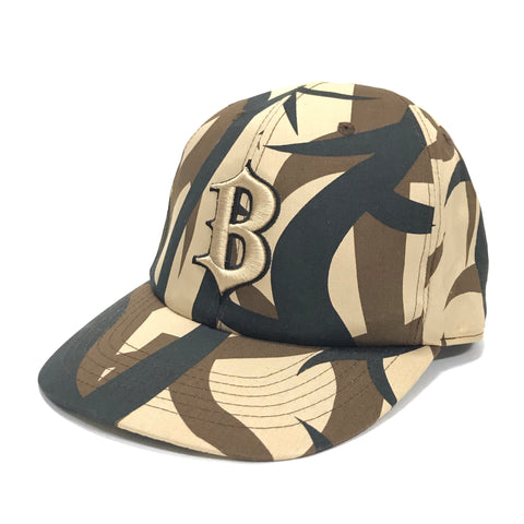 A Bathing Ape Bape Vintage Thorn Camo Fitted Cap Brown