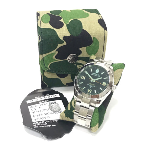 A Bathing Ape Bape Type 15 Milgaus Bapex Watch Silver/Black