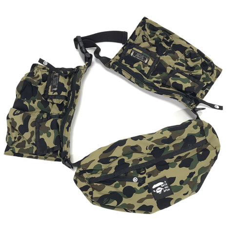 A Bathing Ape Bape Vintage 1st Camo Utility Waist / Shoulder Bag