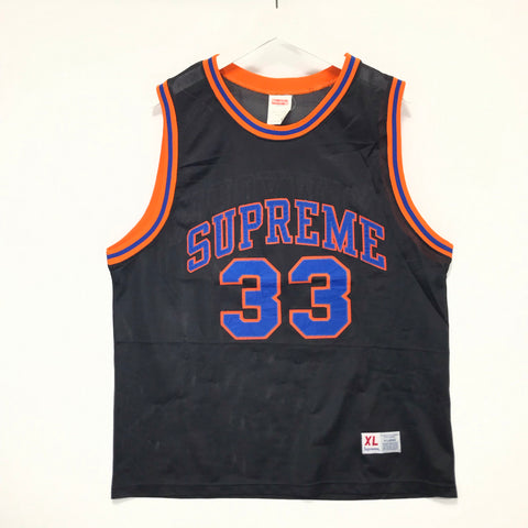 [XL] Supreme Vintage New York 'Knicks' Ewing Basketball Jersey Black