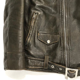 [L] WTaps 10AW Leather Riders Jacket