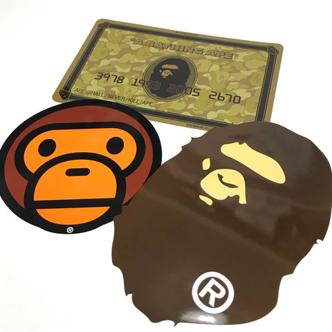 A Bathing Ape Bape Large 3 Sticker Set