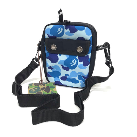 DS! A Bathing Ape Bape ABC Camo Camera / Shoulder Bag Blue