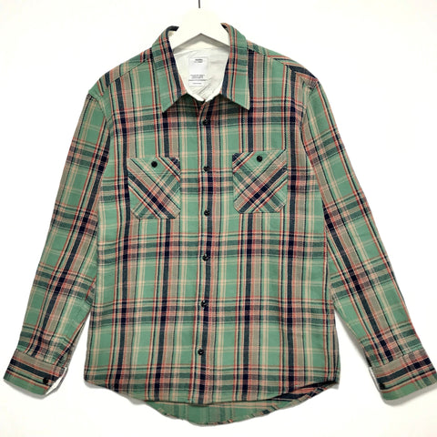 [M] Visvim AW10 Black Elk Flannel Shirt L/S Green