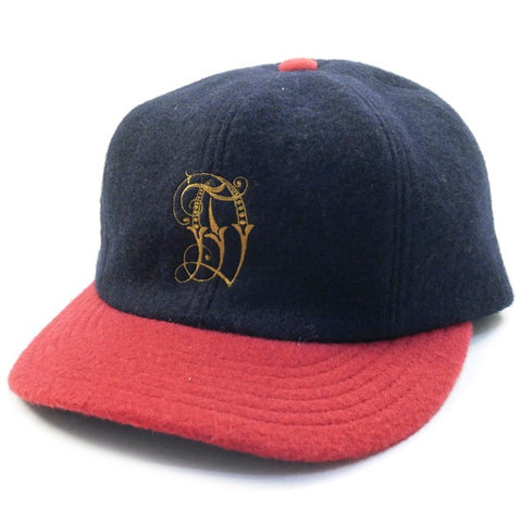 Descendant Wool 6 Panel Cap Navy/Red
