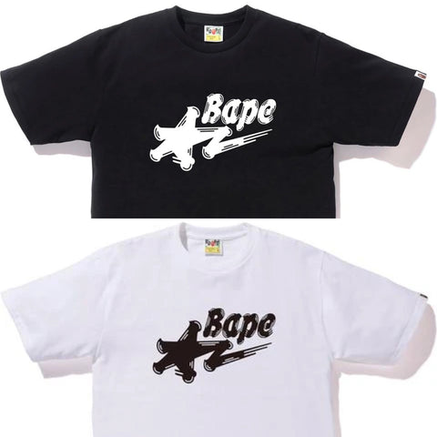 [S~XL] DS! A Bathing Ape Bape Brush Sta Logo Tee