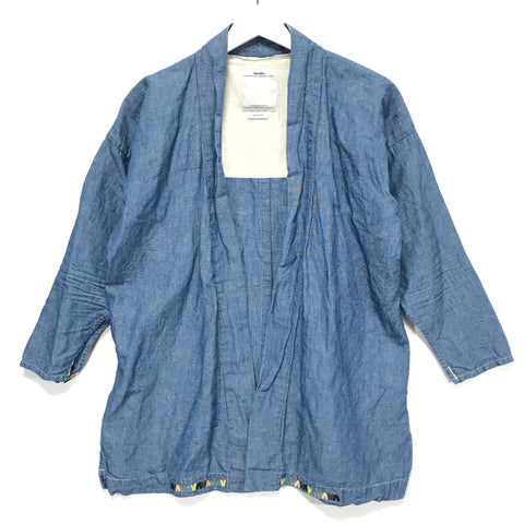 [M] Visvim Noragi Cotton / Linen Shirt Blue