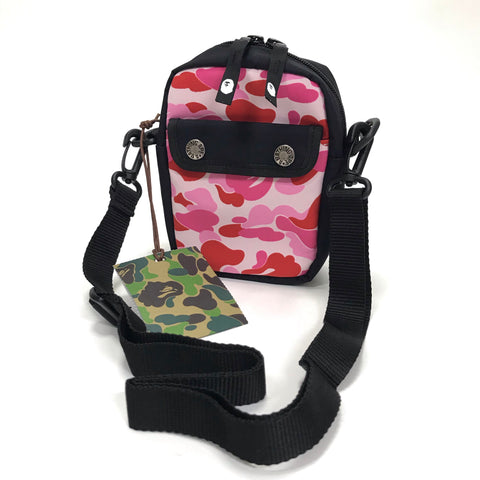 DS! A Bathing Ape Bape ABC Camo Camera / Shoulder Bag Pink