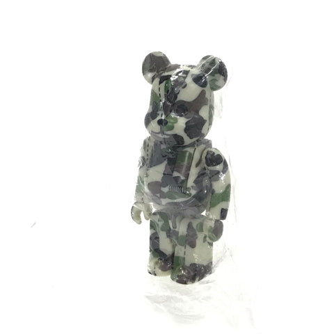 DS! A Bathing Ape Bape x Medicom 100% 1st Camo Bearbrick Green